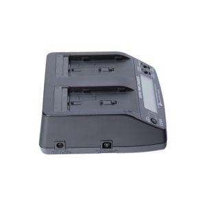 BrowdyTech BRD BQ1051C | Caricabatterie doppio per batterie Sony tipo NP F550/F770/F970/F980/F990 con cavo e adattatore per auto | Batterie per Sony