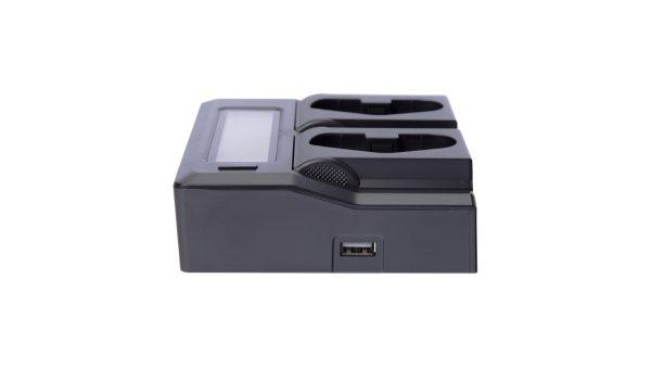 BrowdyTech BRD DCLCDLP | Caricabatterie doppio per batterie Canon LP E4/LP E19 | Batterie per Canon