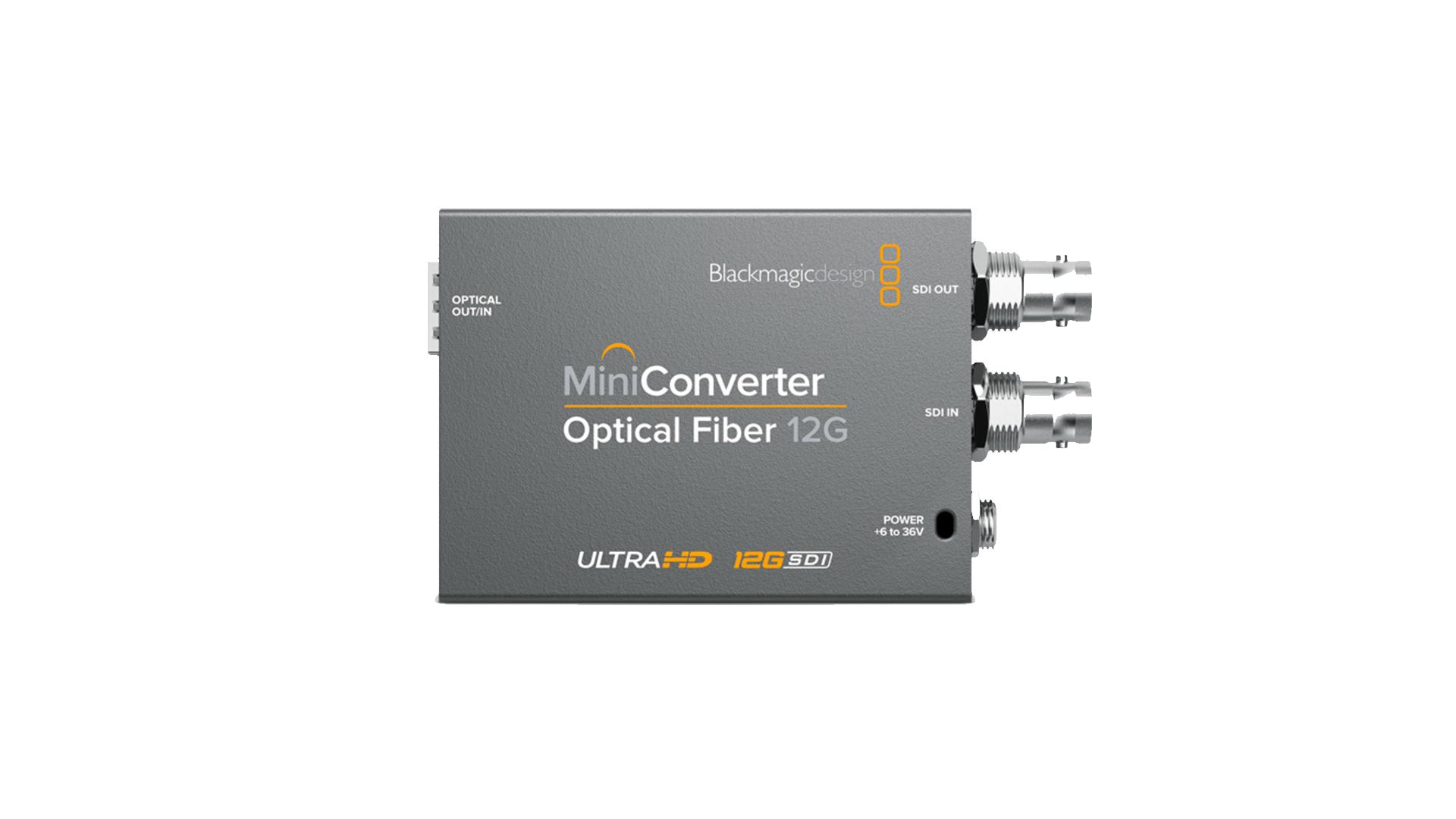 Blackmagic CONVMOF12G | Mini convertitore Fibra Ottica 12G | Convertitori | Distributori