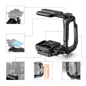 SmallRig CVB2255B | Mezza gabbia per Blackmagic Design Pocket Cinema Camera 4K e 6K | Cage | Shoulder Rig