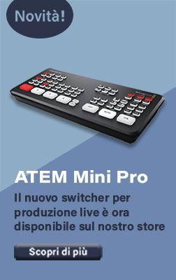 Switcher ATEM Mini Pro per streaming